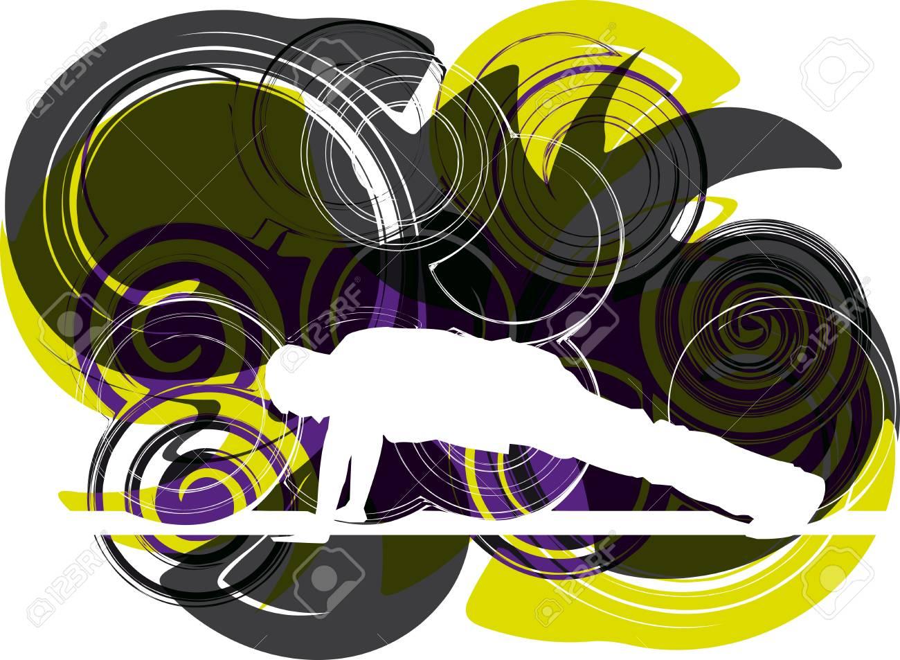 Gymnastr illustration Stock Vector - 10858562