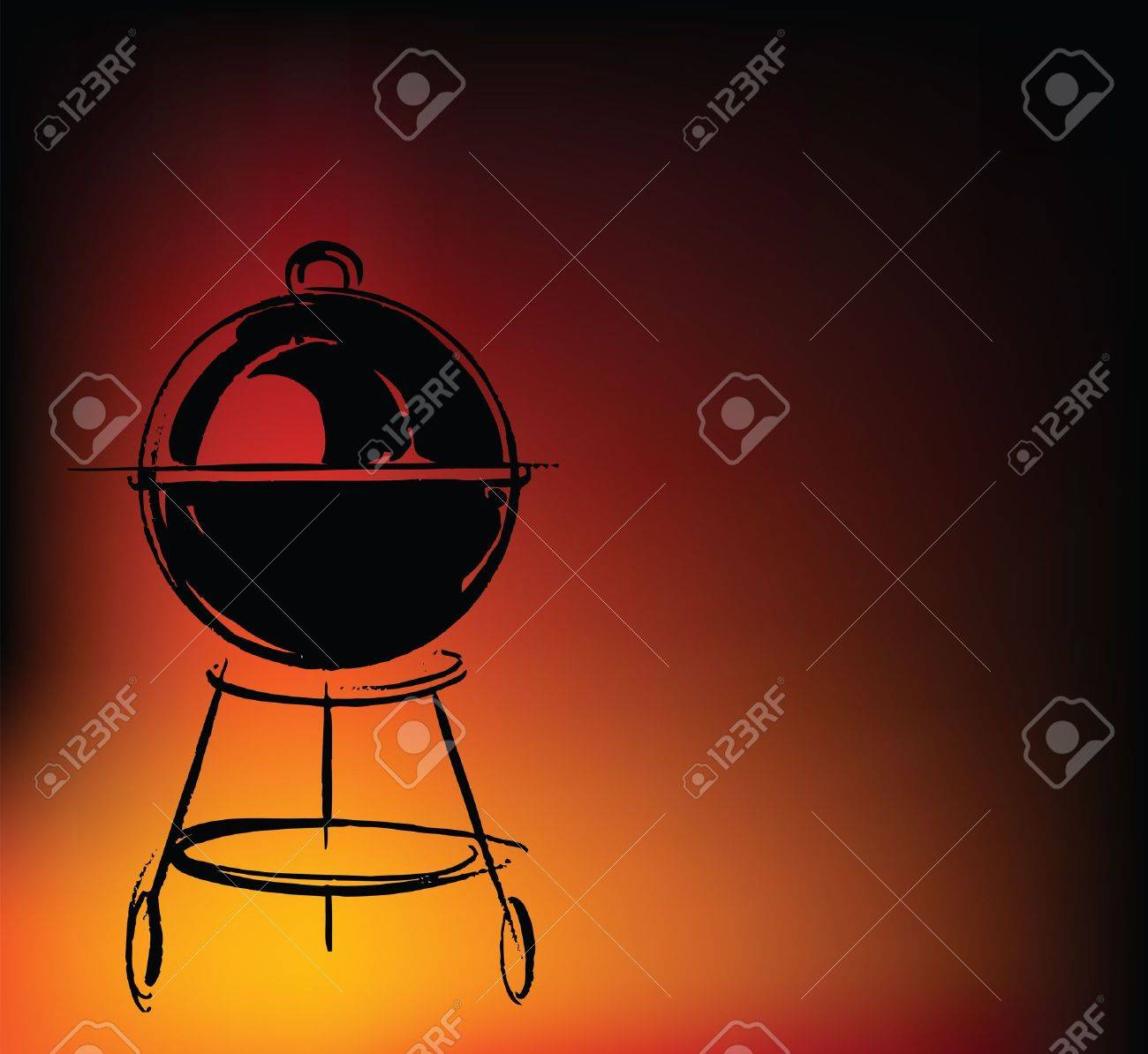 BBQ vector illustration Stock Vector - 10841949