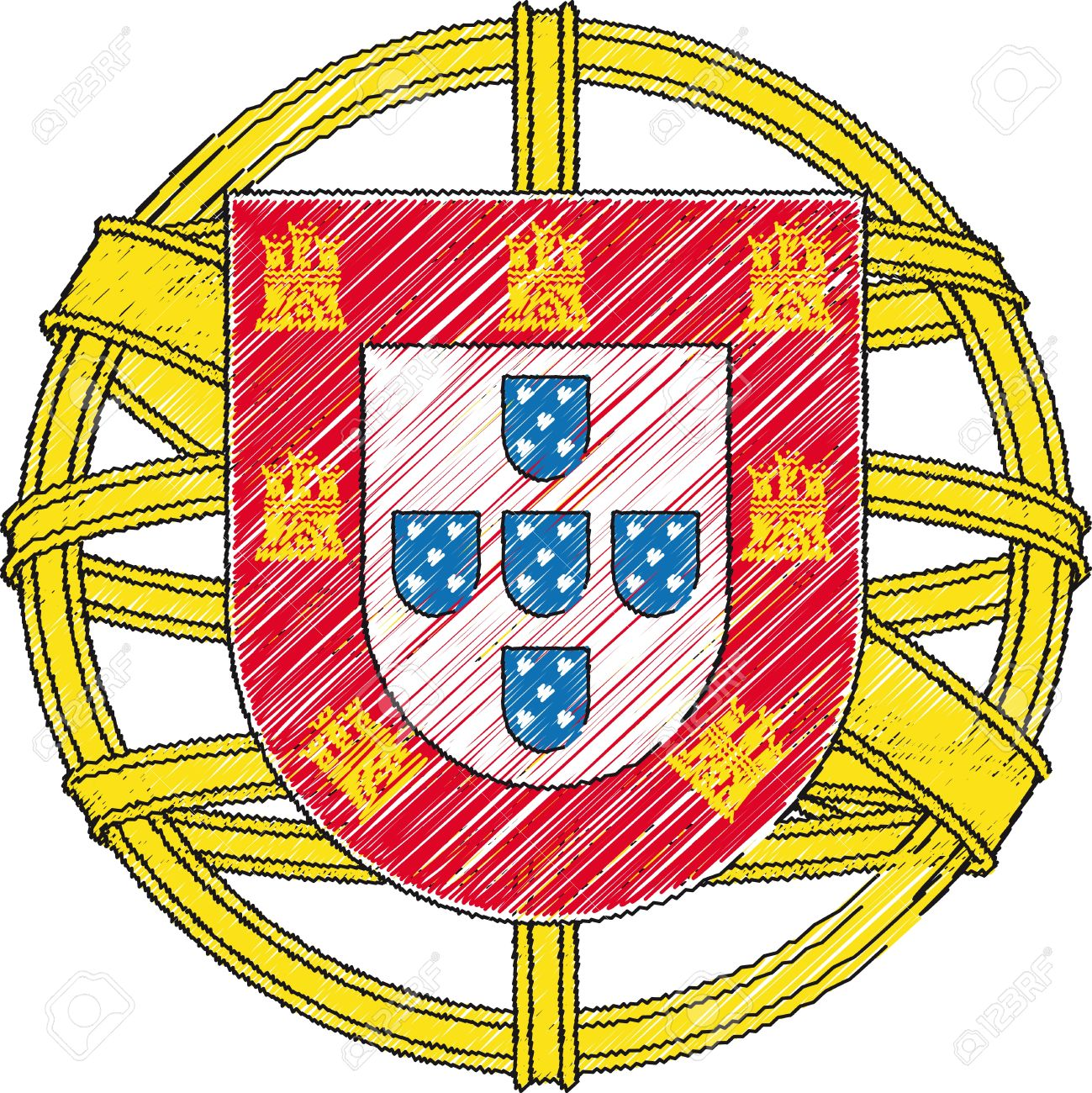 Coat Of Arms Portugal Vector Illustration Royalty Free Cliparts Vectors And Stock Illustration Image 10842286