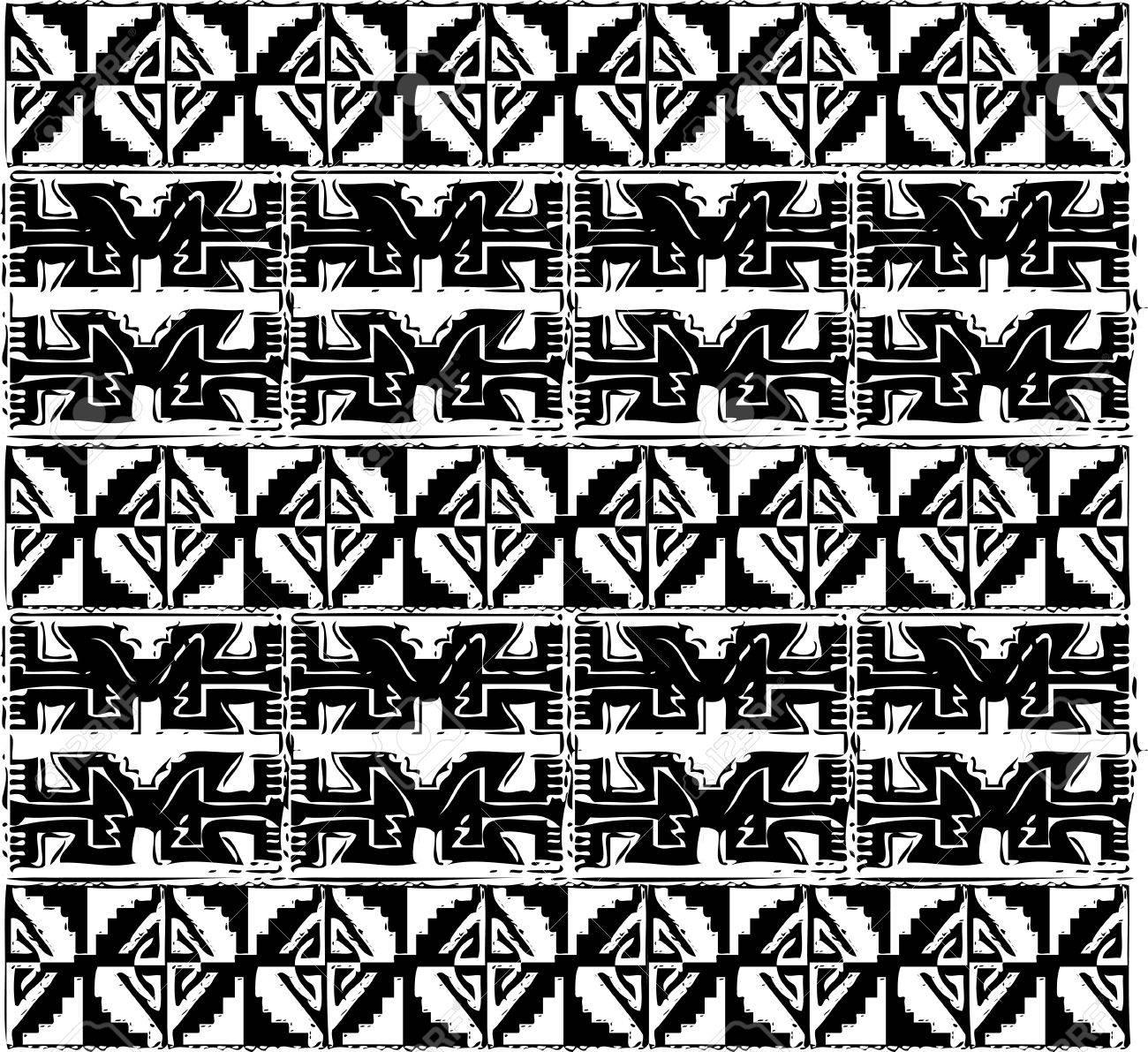 Ancient pattern. Vector illustration Stock Vector - 10892529
