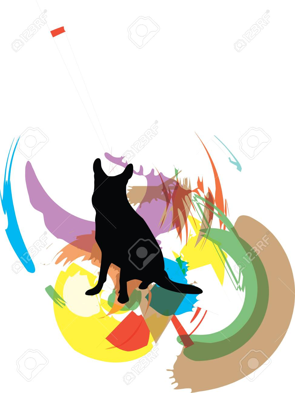 Dog, vector illustration Stock Vector - 10892542