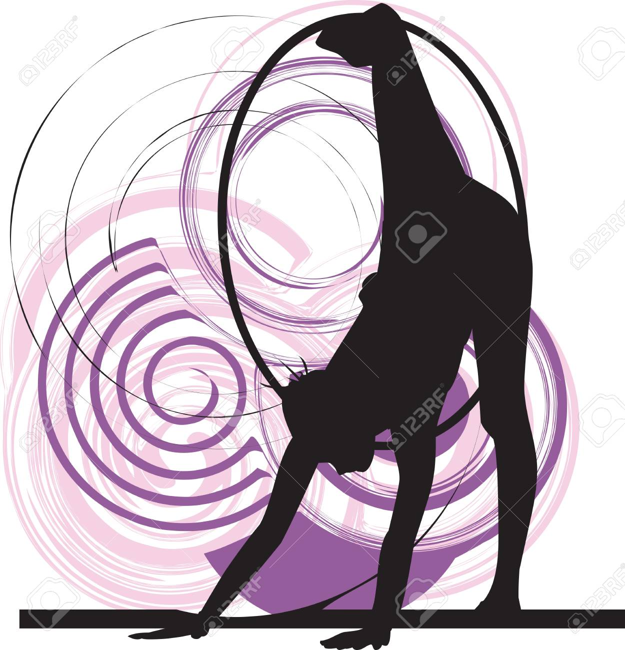 Acrobatic girl illustration Stock Vector - 10889355