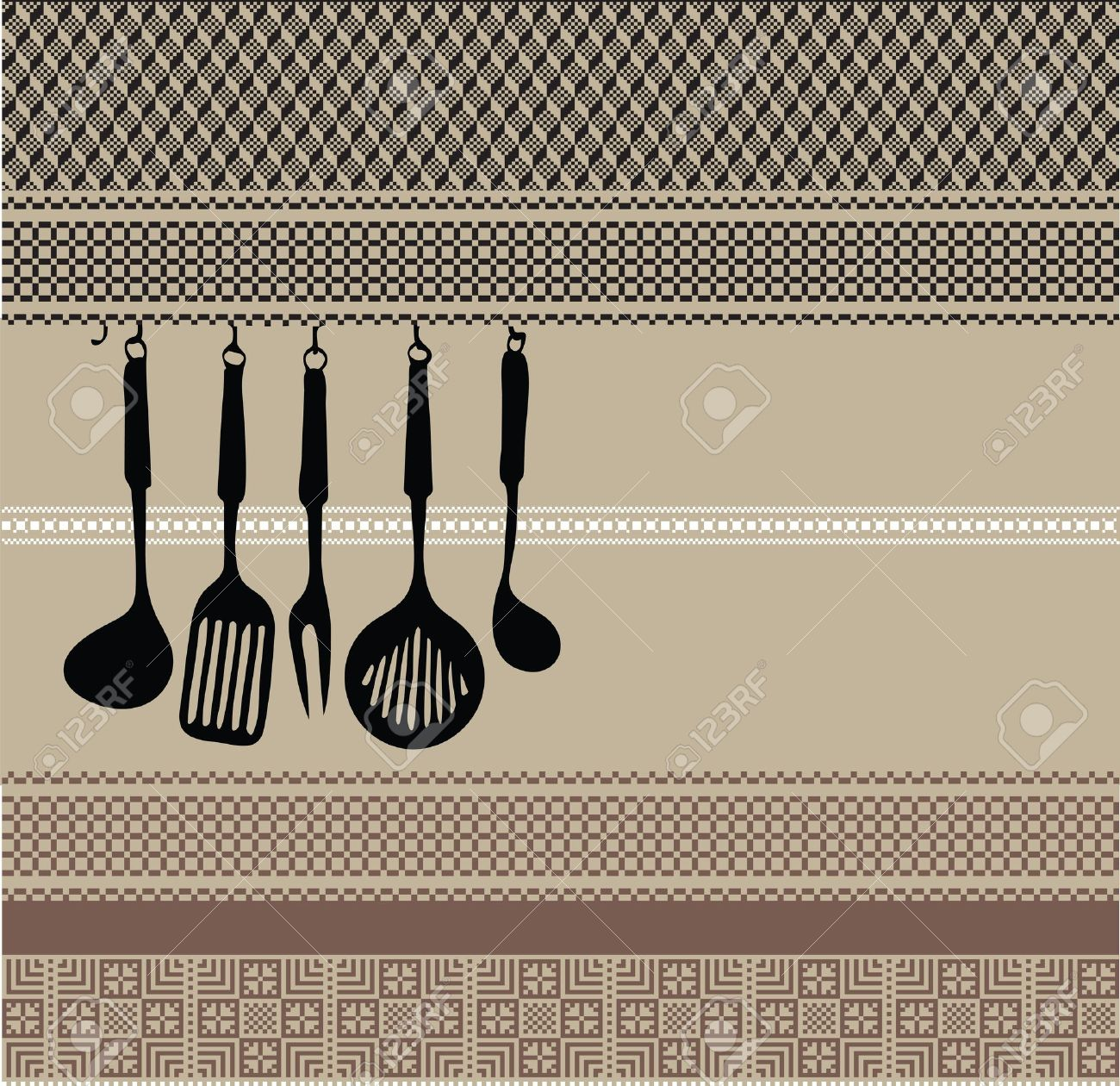 Kitchen Utensils Background rack of kitchen utensils on ancient background royalty free
