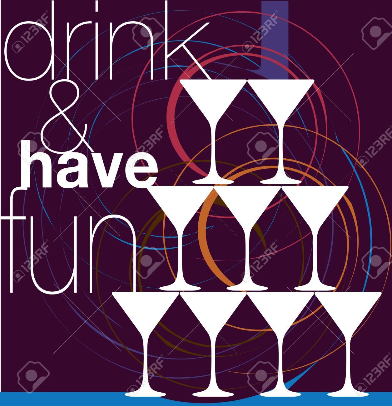 Drink & have fun. Vector illustration Stock Vector - 10915068