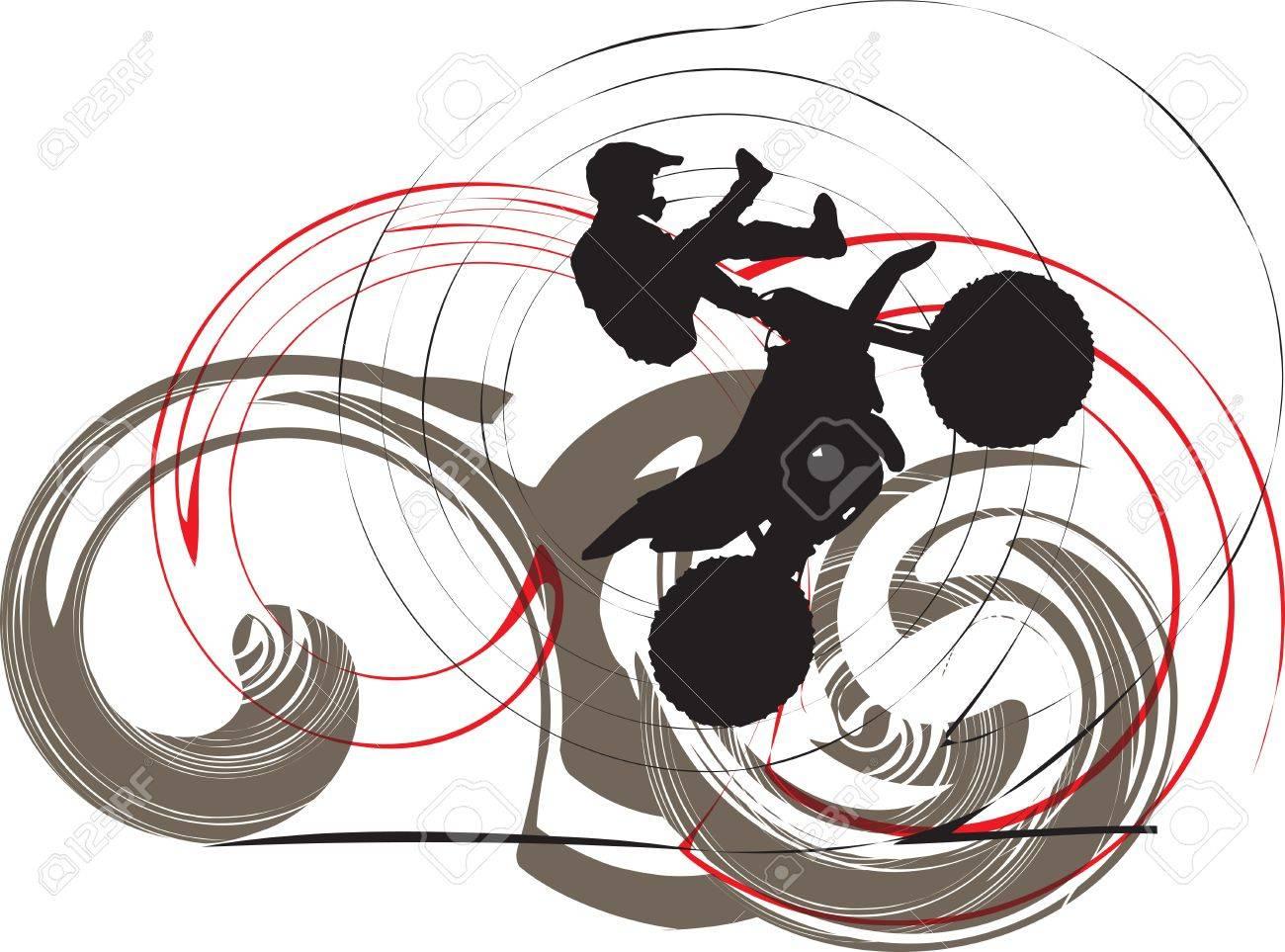 Biker illustration Stock Vector - 10937064
