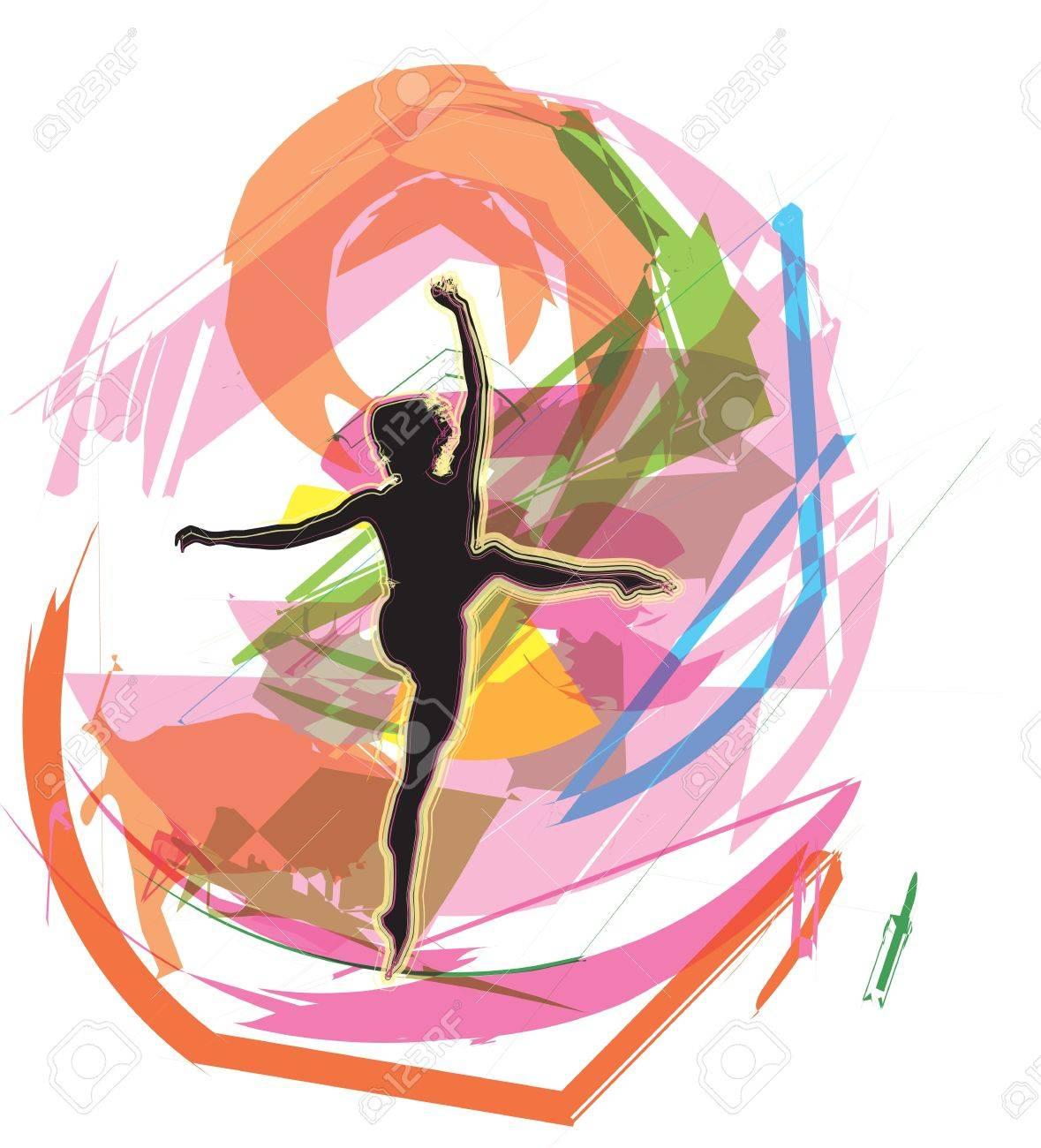 Dancing illustration Stock Vector - 10969335