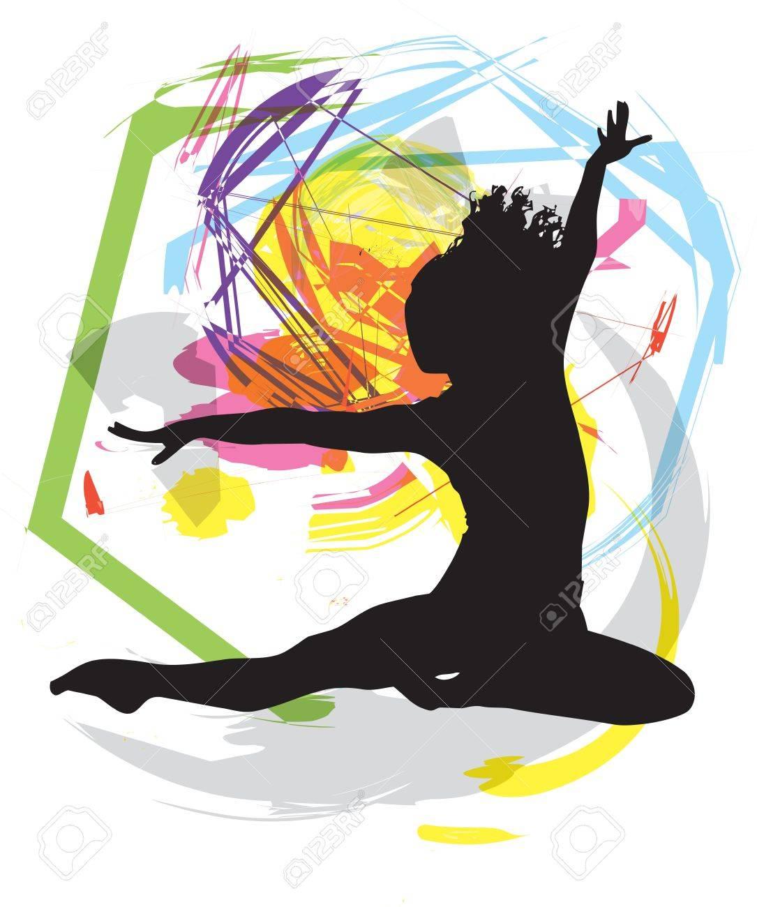 Dancing illustration Stock Vector - 10969395