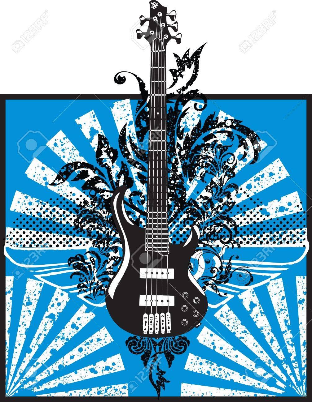 Electric Guitar design Stock Vector - 10969382