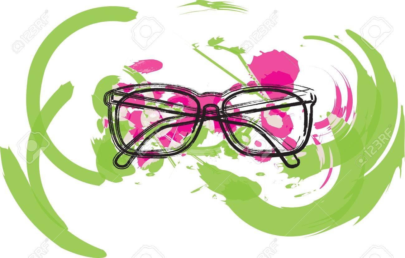 Eyeglasses illustration Stock Vector - 10969330