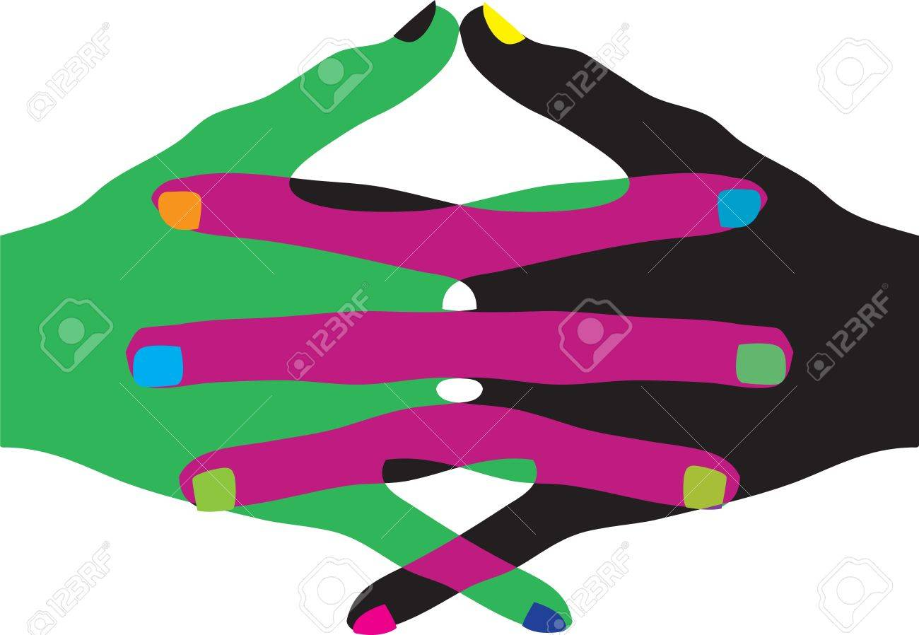 Union touch Stock Vector - 10968931