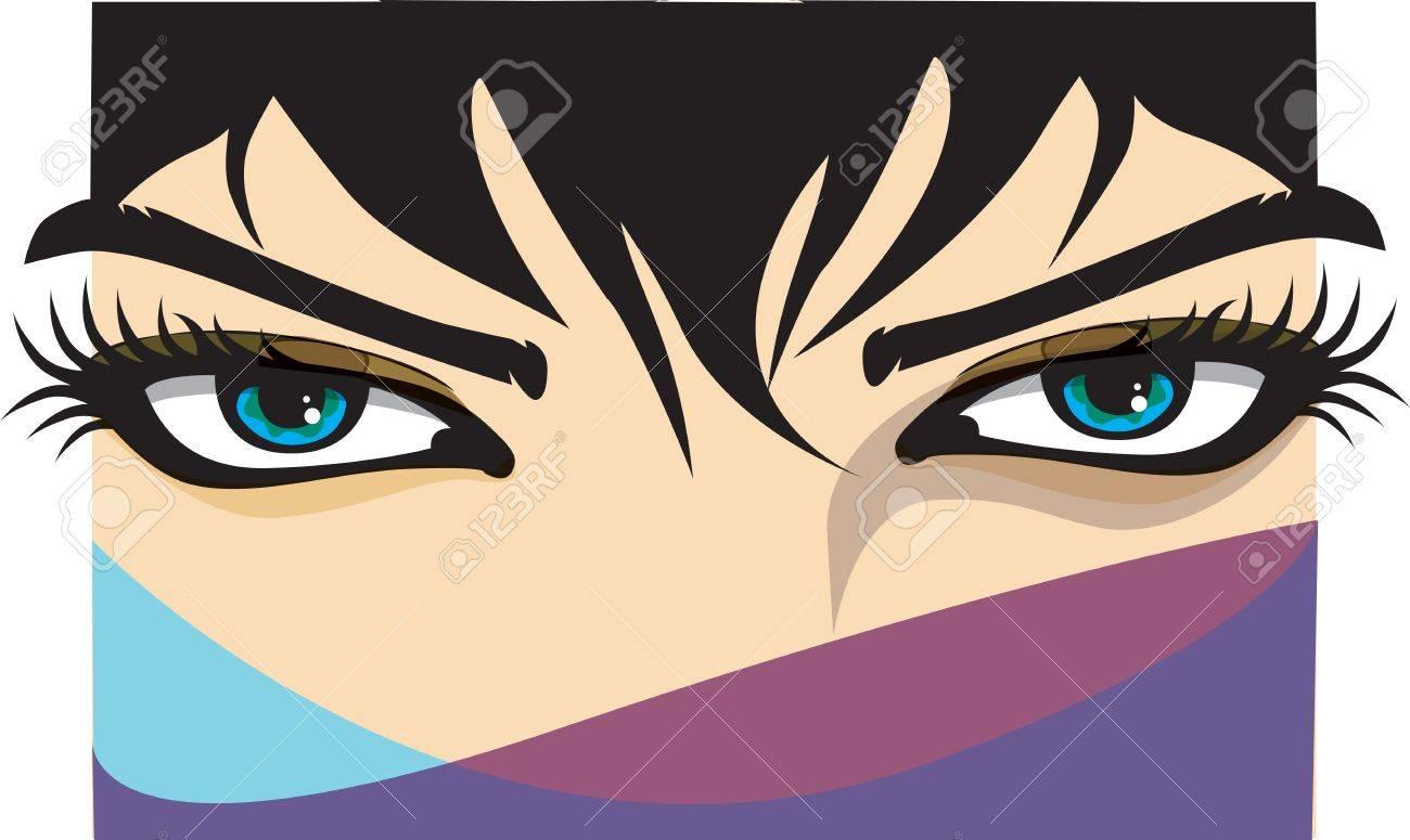 Woman eye illustration - 10968943