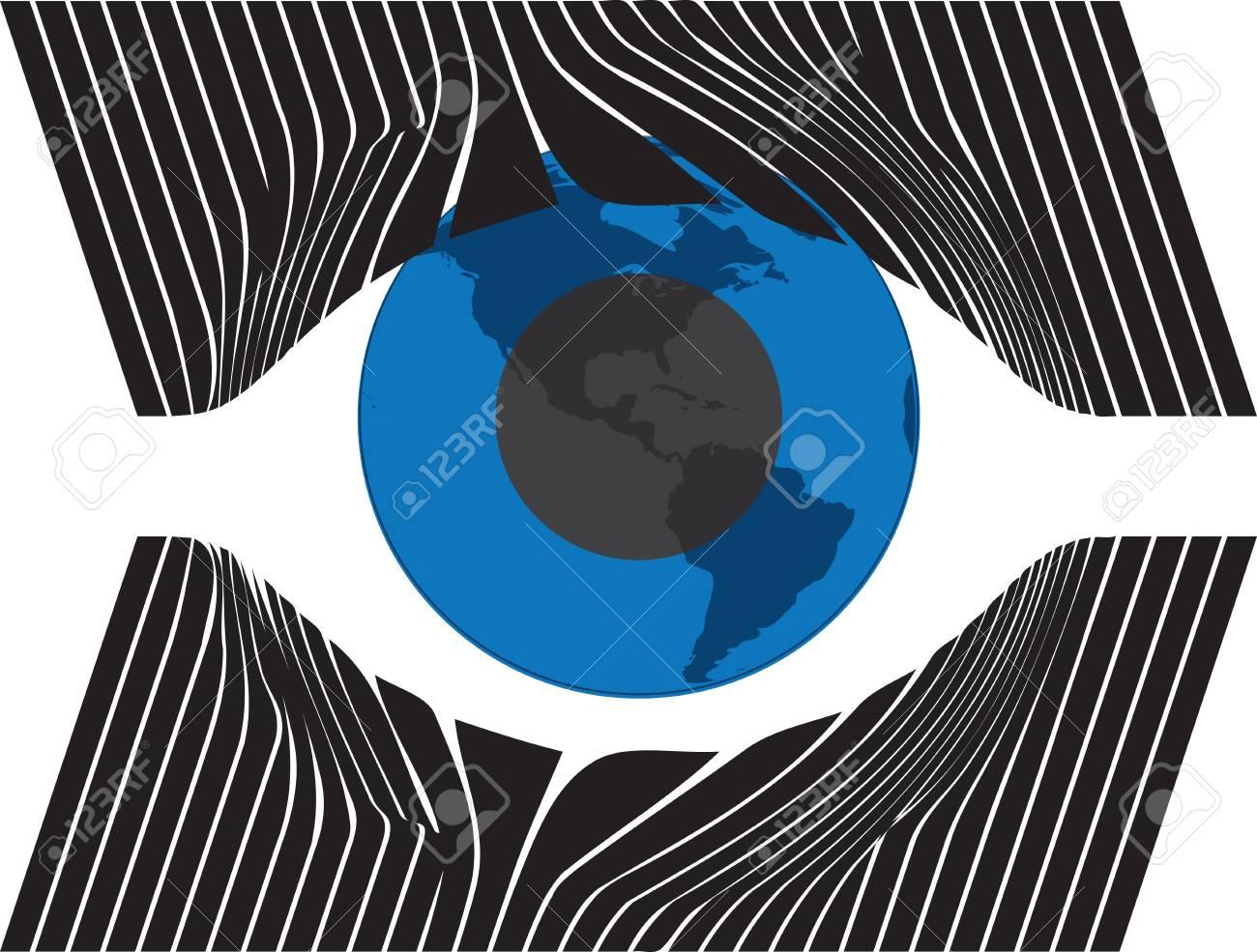Look at my eyes. Vector illustration Stock Vector - 10968945