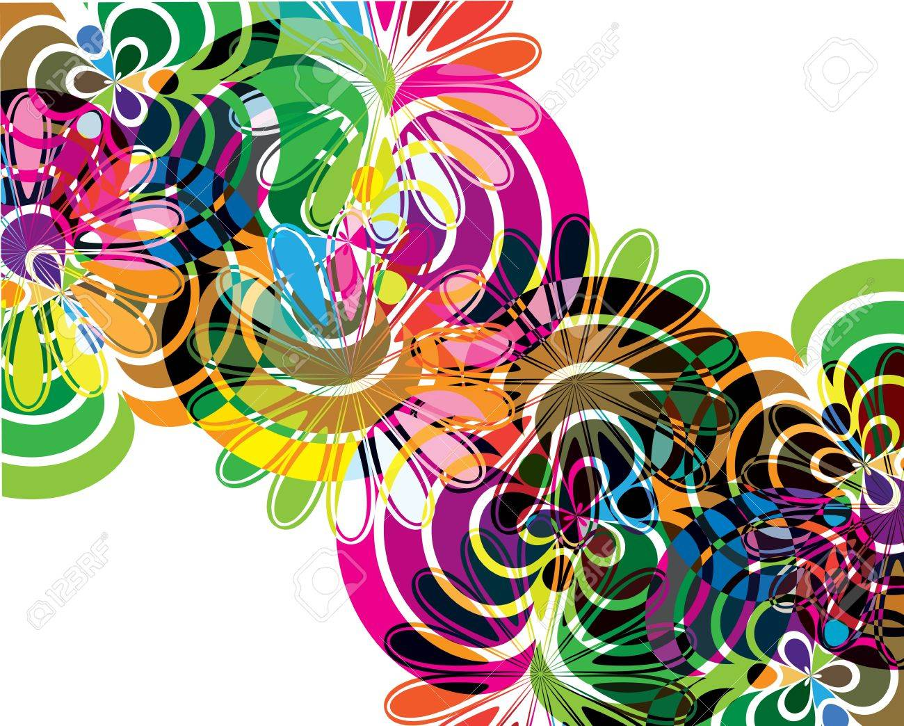 Abstract flowers illustrations Stock Vector - 10999489