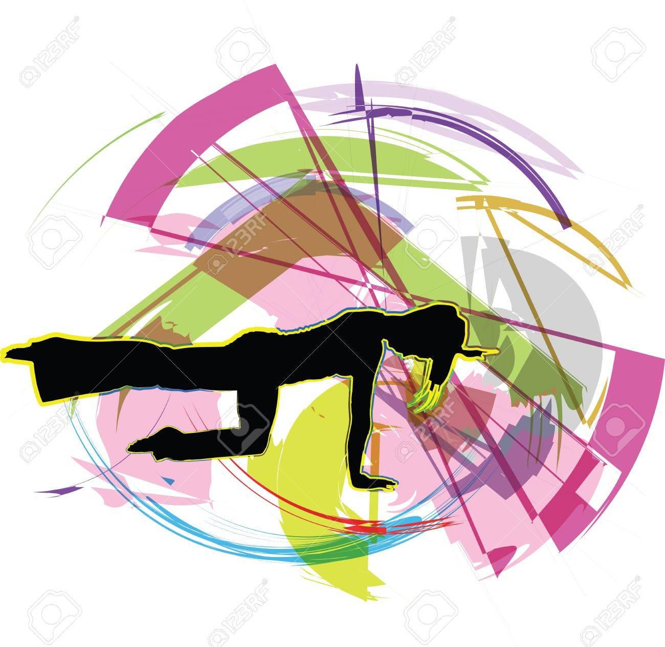 Acrobatic girl illustration Stock Vector - 11000130