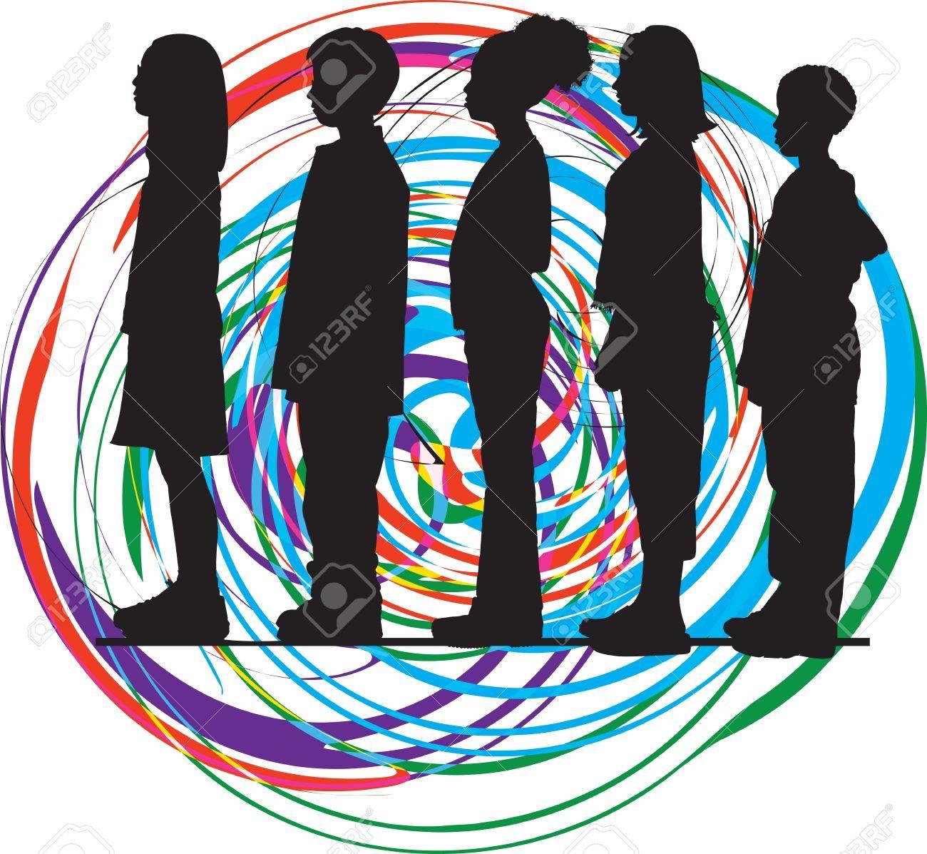 Friends. Editable Vector Illustration Stock Vector - 10999280