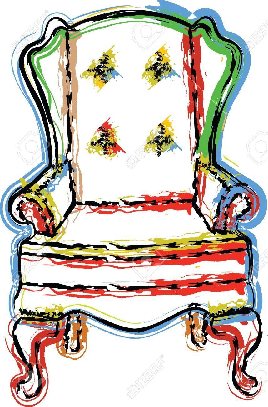 Chair illustration Stock Vector - 10999871