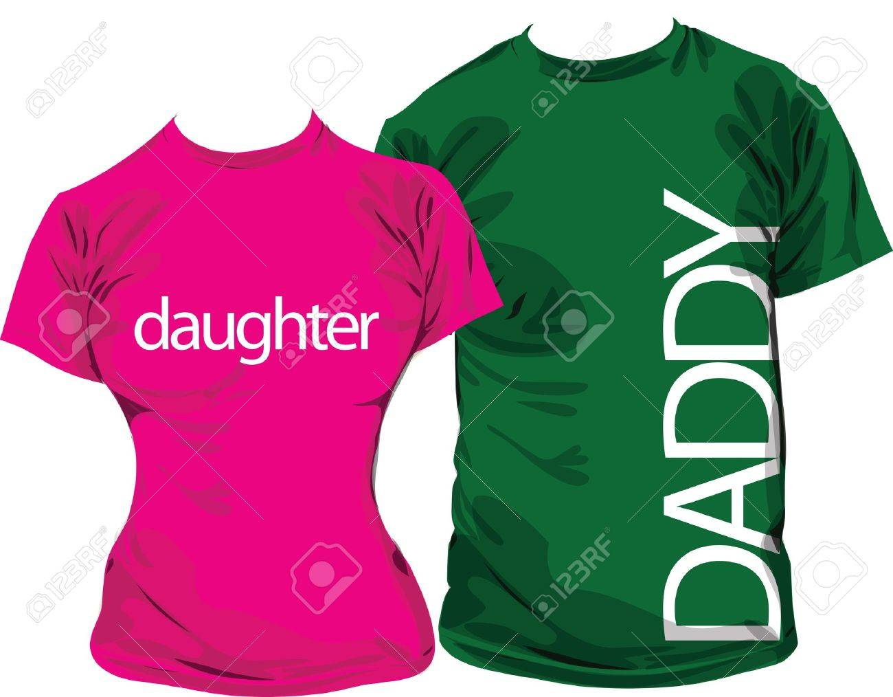 Design tshirt family - Family Tshirts Stock Vector 11000867