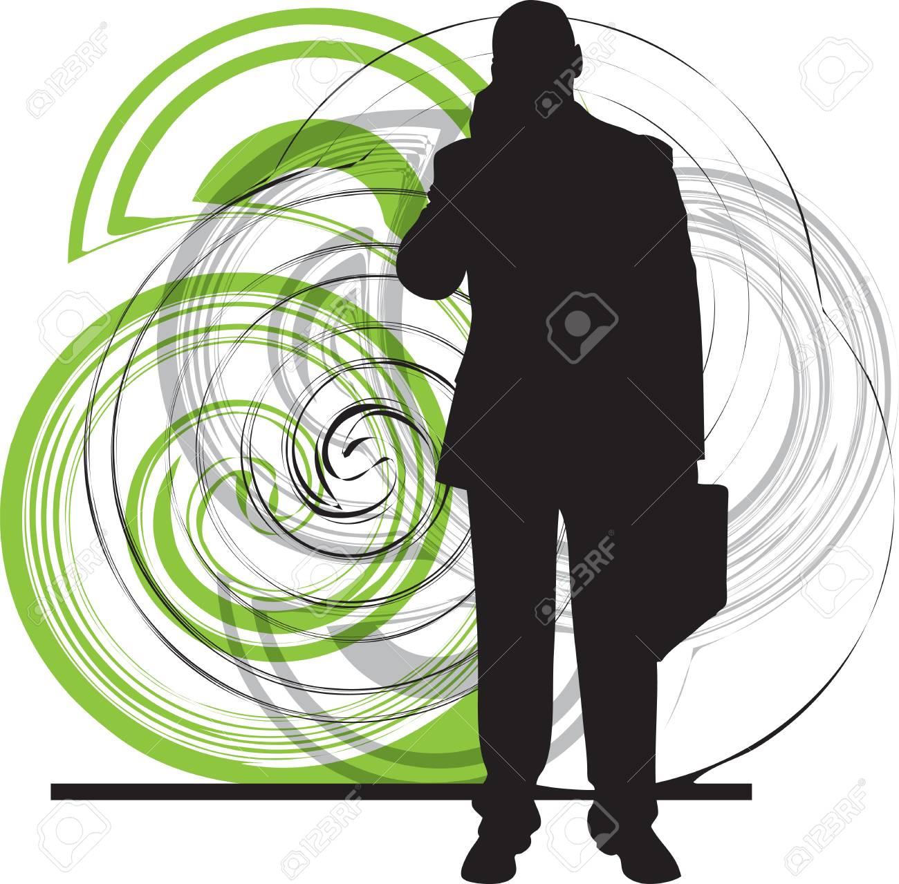 Businessman illustration Stock Vector - 11001048
