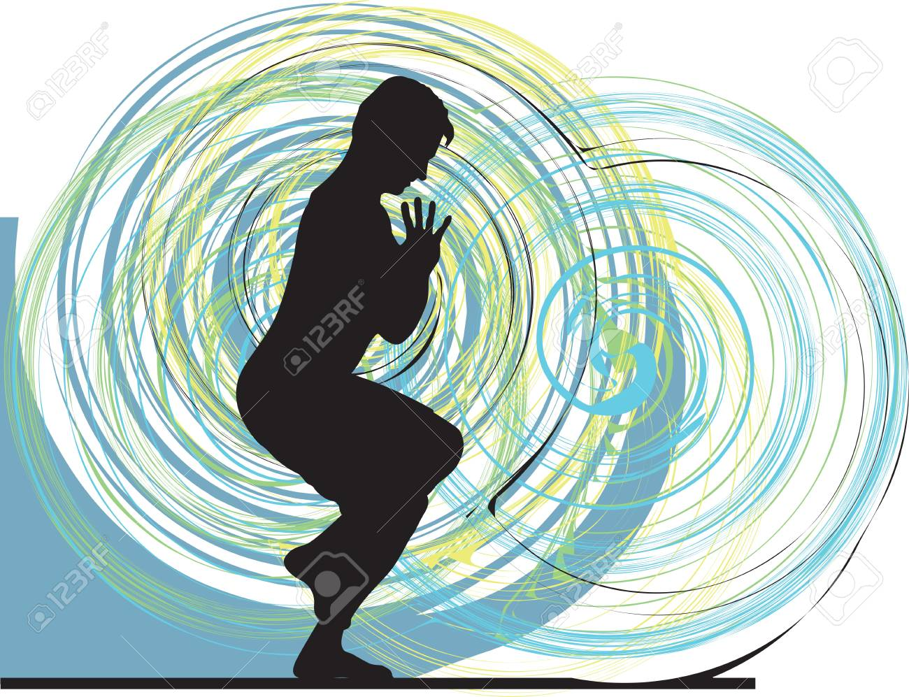 Yoga illustration Stock Vector - 11062468