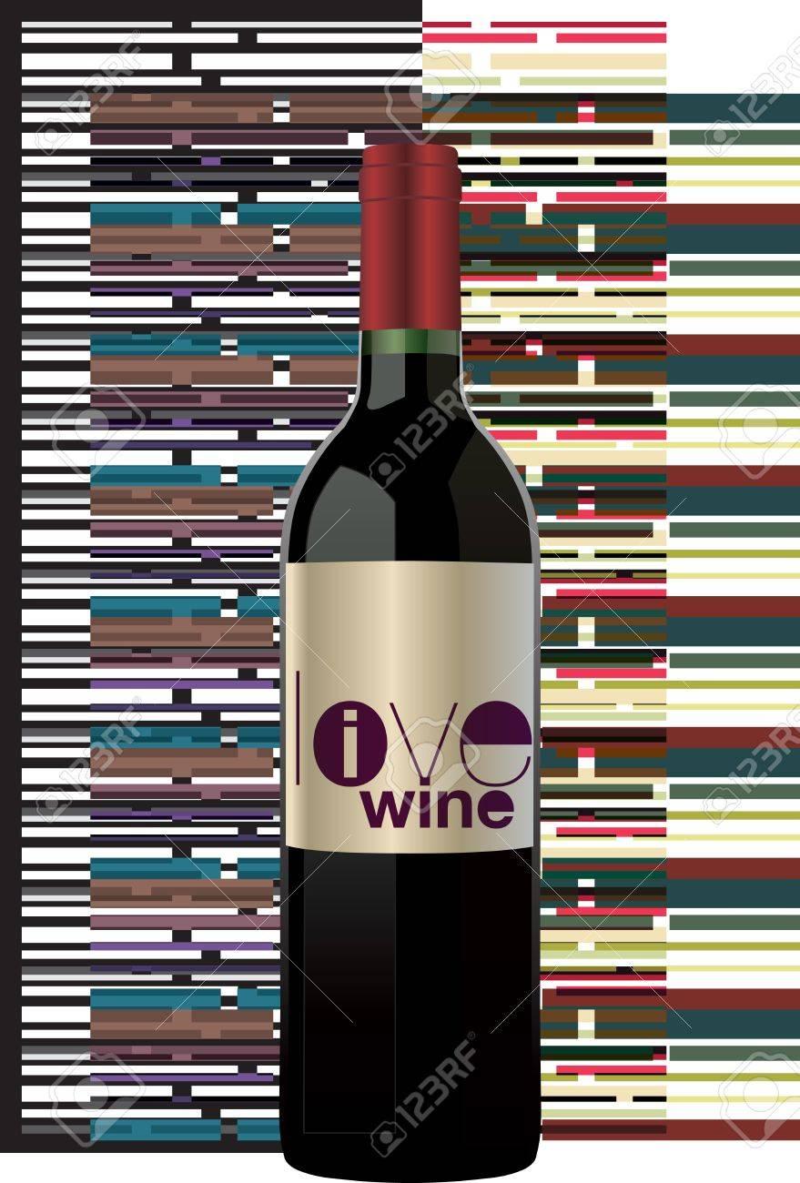 Red wine bottle Stock Vector - 11062451