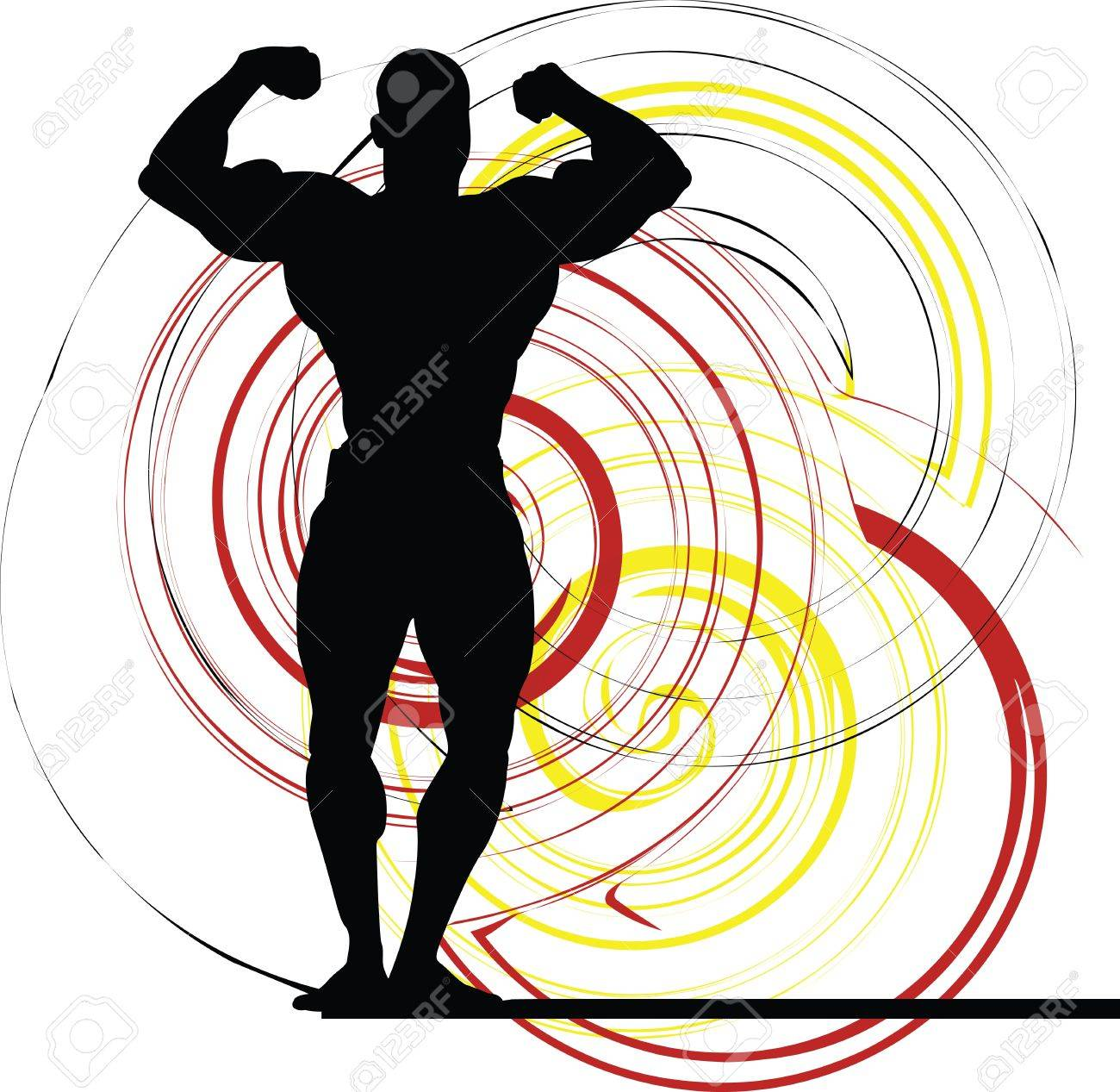 Bodybuilding Stock Vector - 11062634