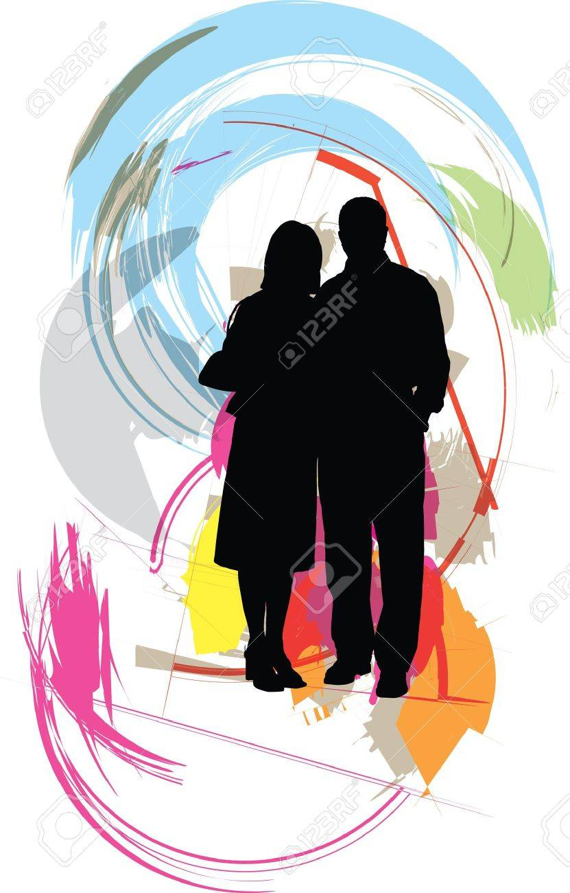 Couple illustration Stock Vector - 11129341