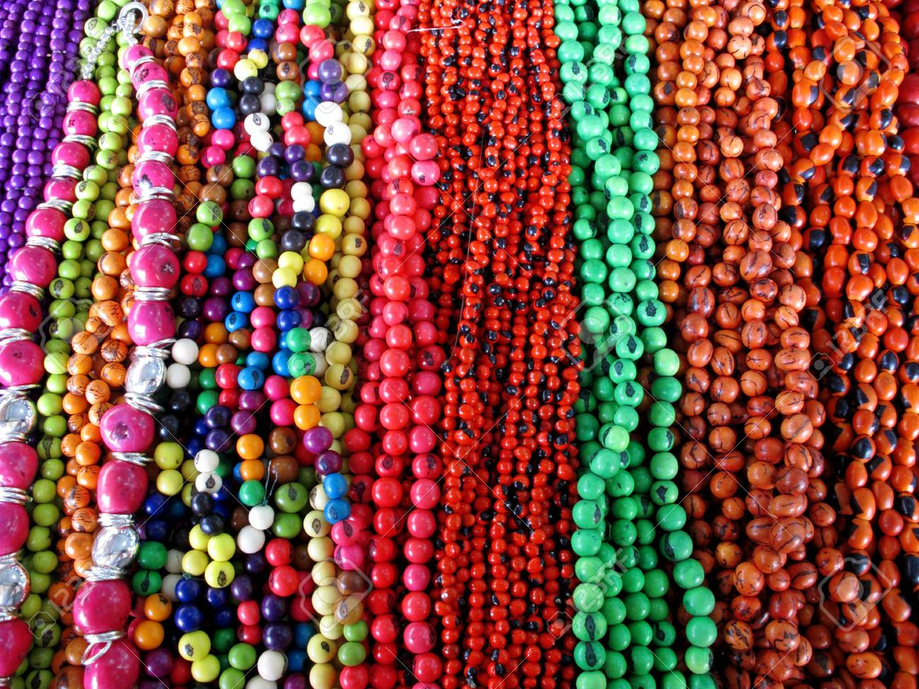 Ancient colorful Necklaces Stock Photo - 11172074