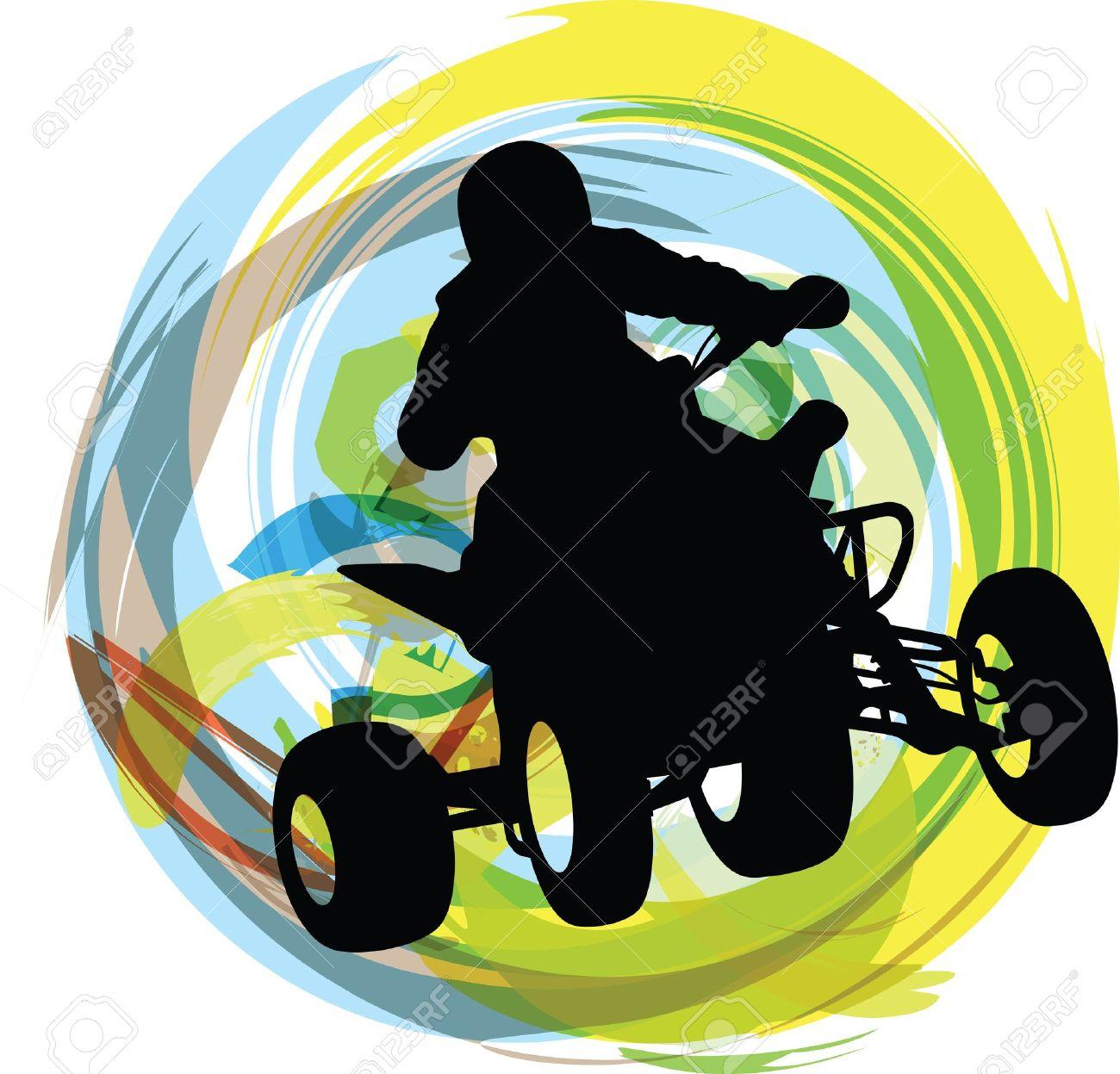 Sketch of Sportsman riding quad bike - 15194832