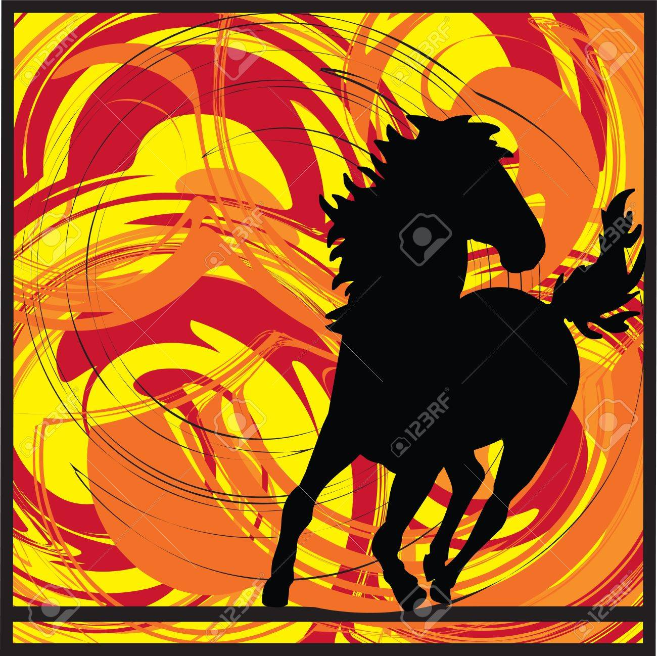 abstract horse illustration - 16762896