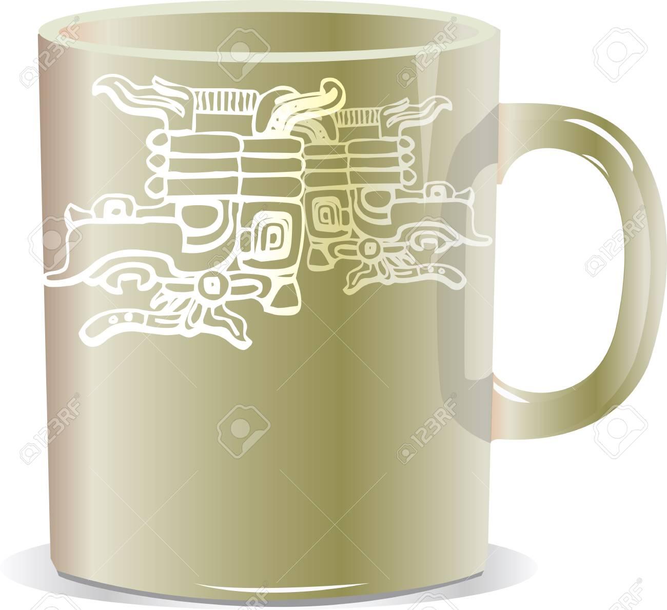 ancient mug illustration Stock Vector - 17065816