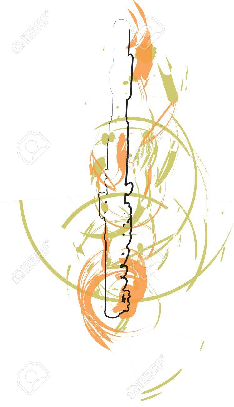 abstract Flute illustration Stock Vector - 18172665