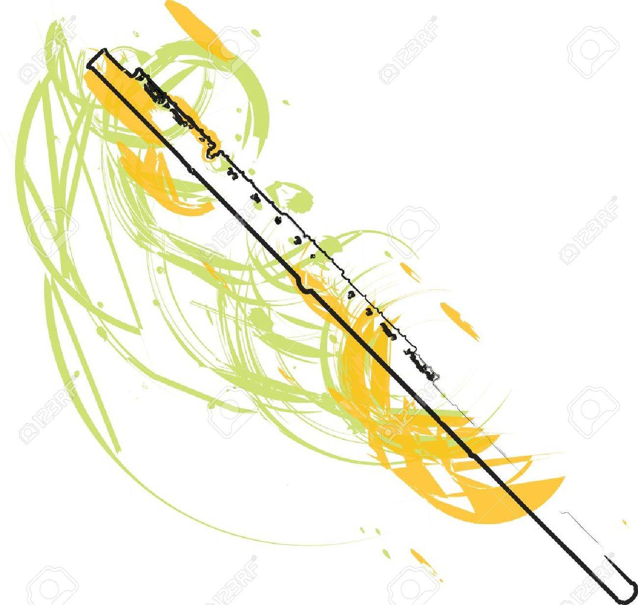 abstract Flute illustration Stock Vector - 18172680