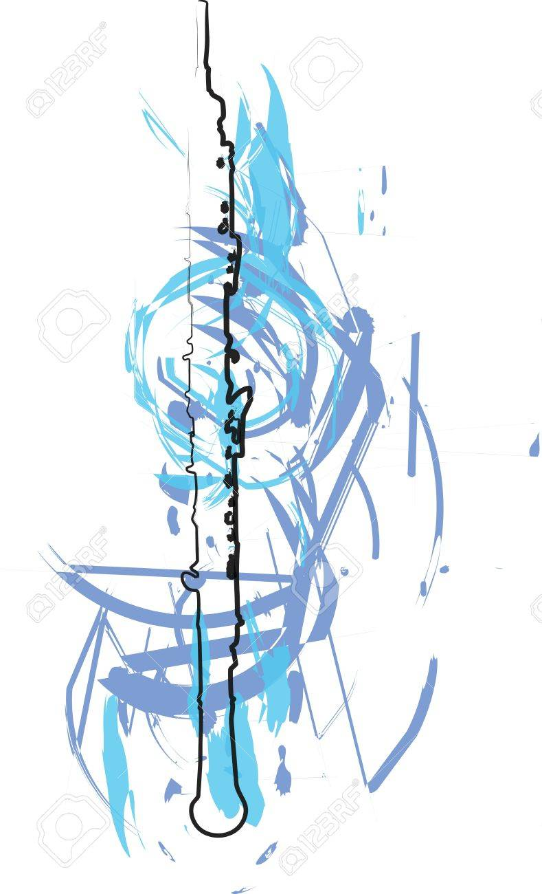 abstract Flute illustration Stock Vector - 18172670