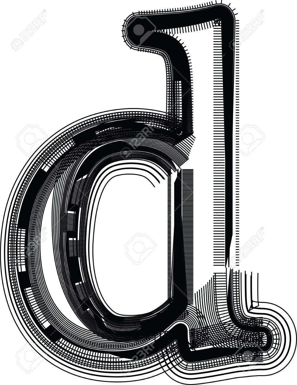 Font Illustration Letter D Royalty Free Cliparts Vectors And Stock