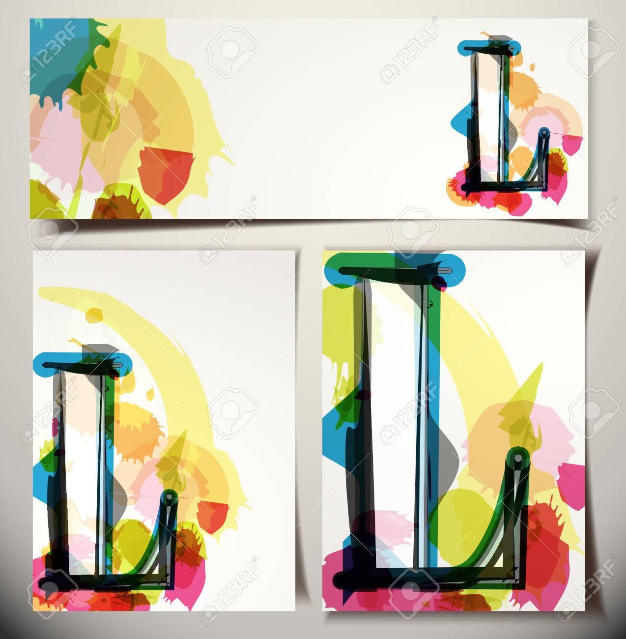 Artistic Greeting Card Font Vector Illustration