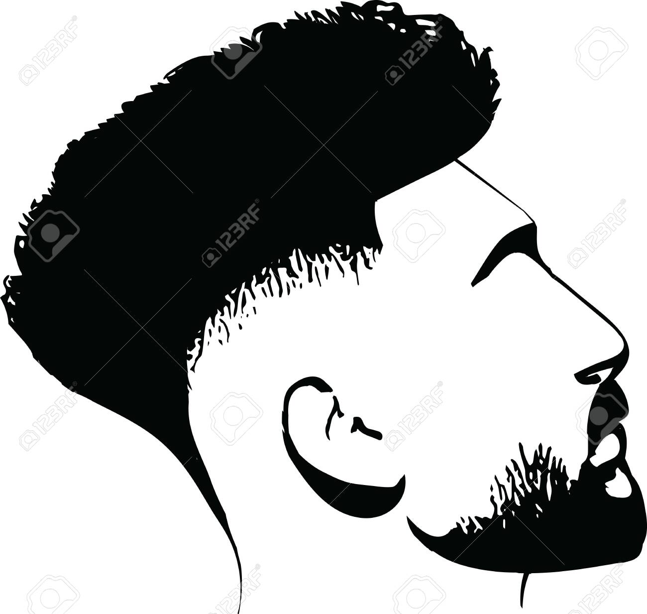 Bearded Man Faces Hipster With Haircuts Men Fashion Vector For Royalty Free Cliparts Vectors And Stock Illustration Image 142952692
