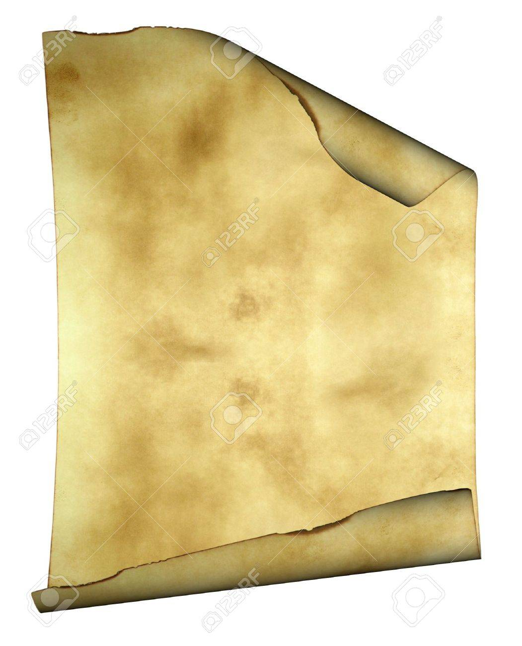 Old paper background parchment with curled burned edges and space for text or image Stock Photo - 3450580