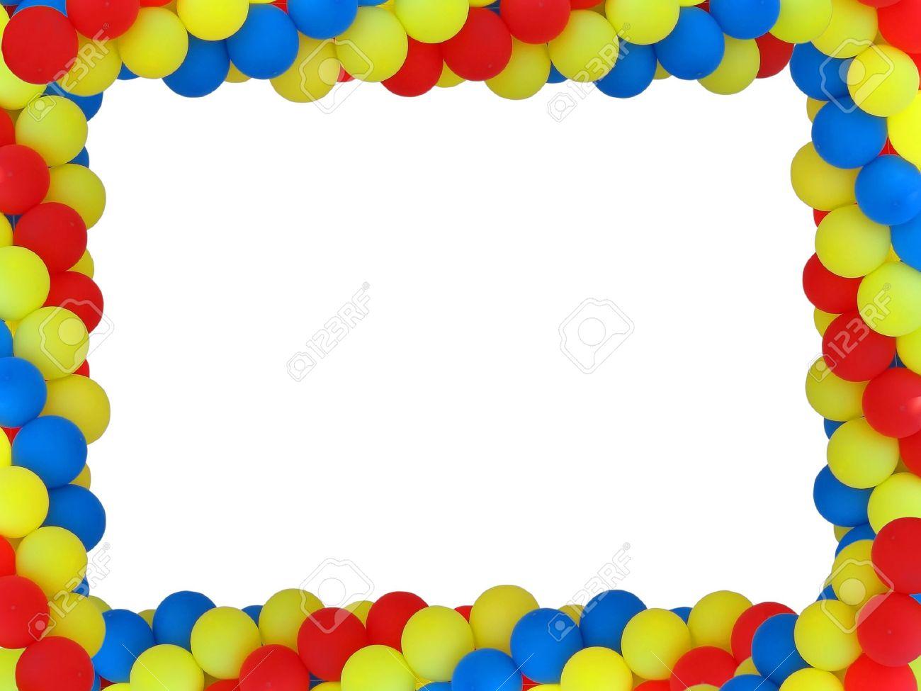 Farbige Rahmen Ballon Mit Leeren Plase Für Geburtstag Portret ...