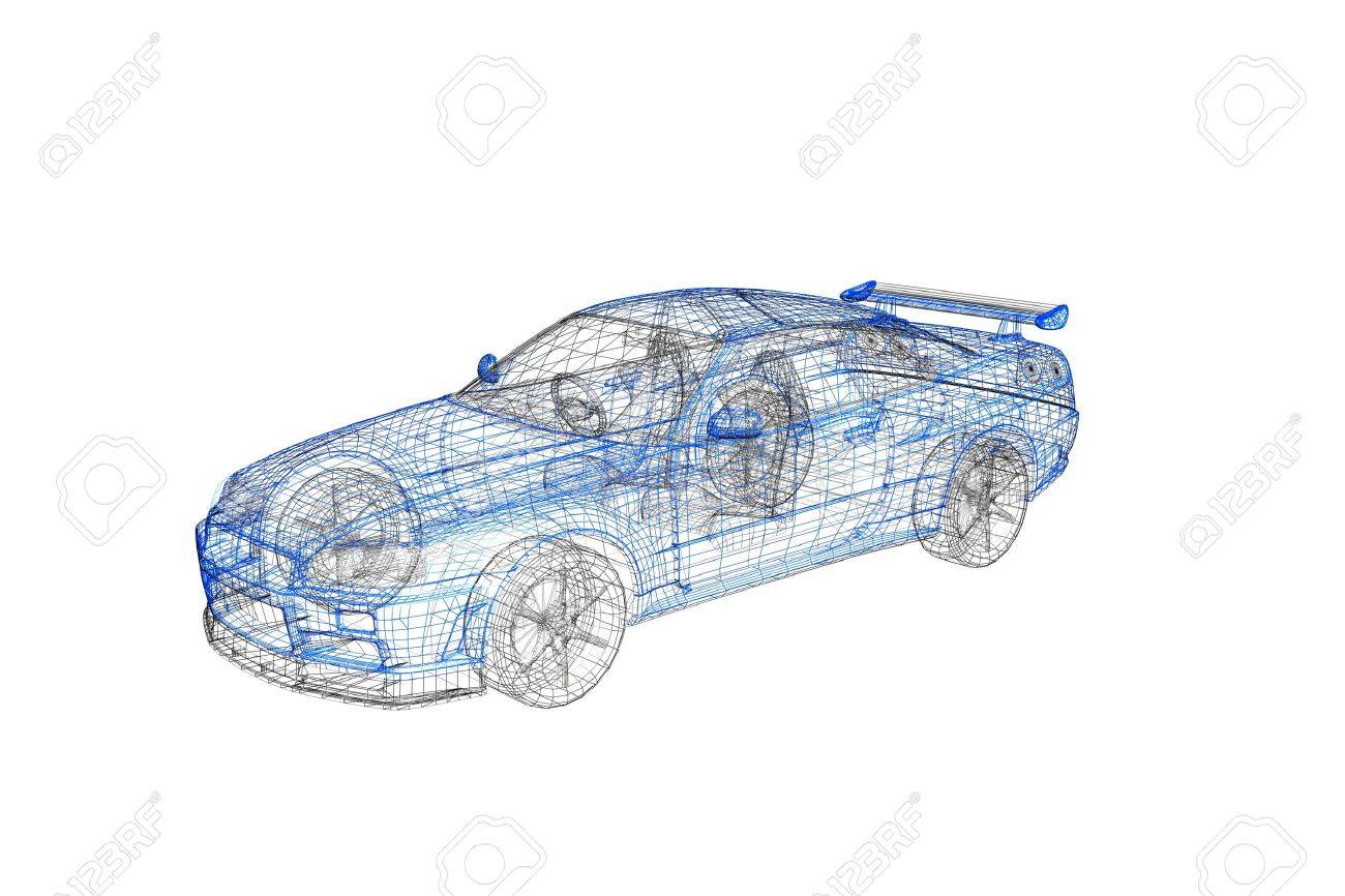 3d concept model of modern car project Stock Photo - 4254941