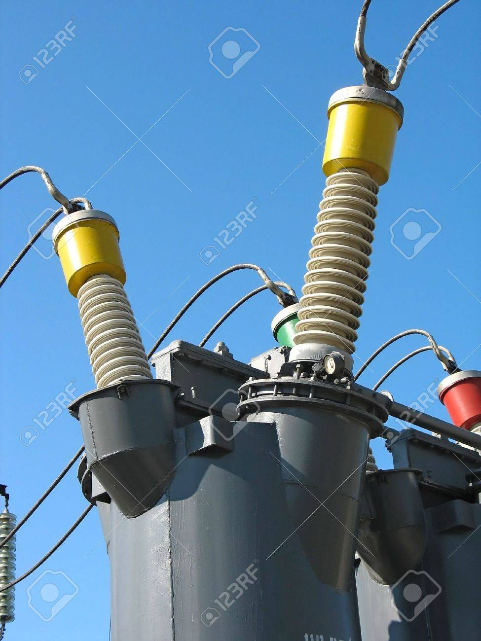 Industrial high voltage converter detail at a power plant Stock Photo - 4669118