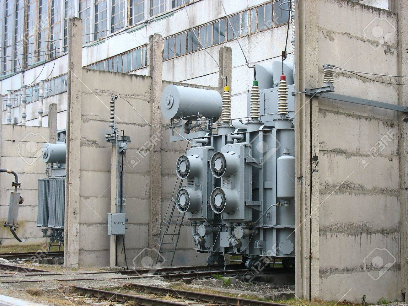 Huge industrial high voltage converter at a power plant Stock Photo - 12507669
