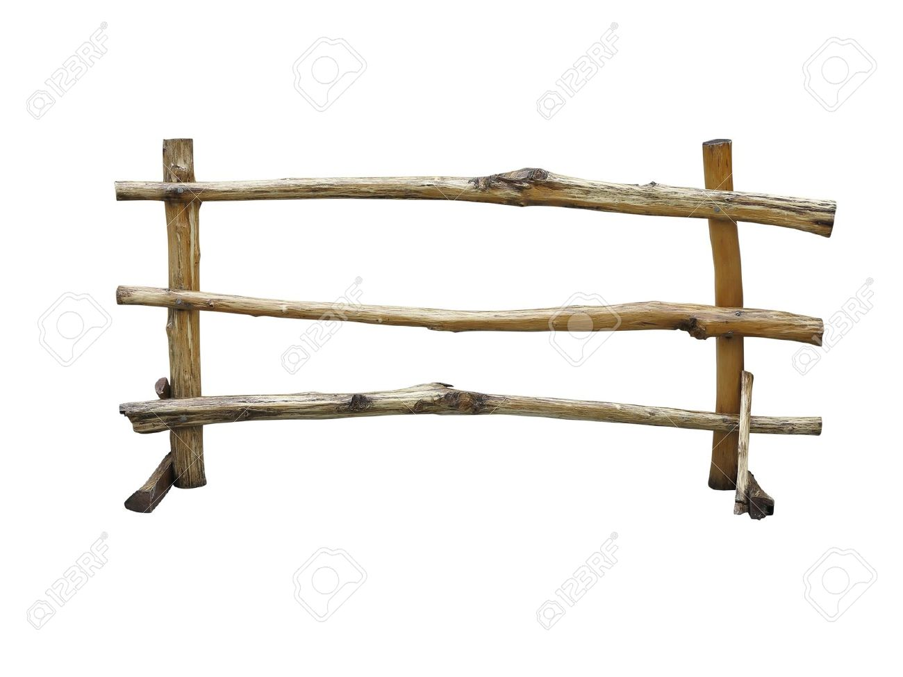 Wooden fence at ranch isolated over white background Stock Photo - 16641937