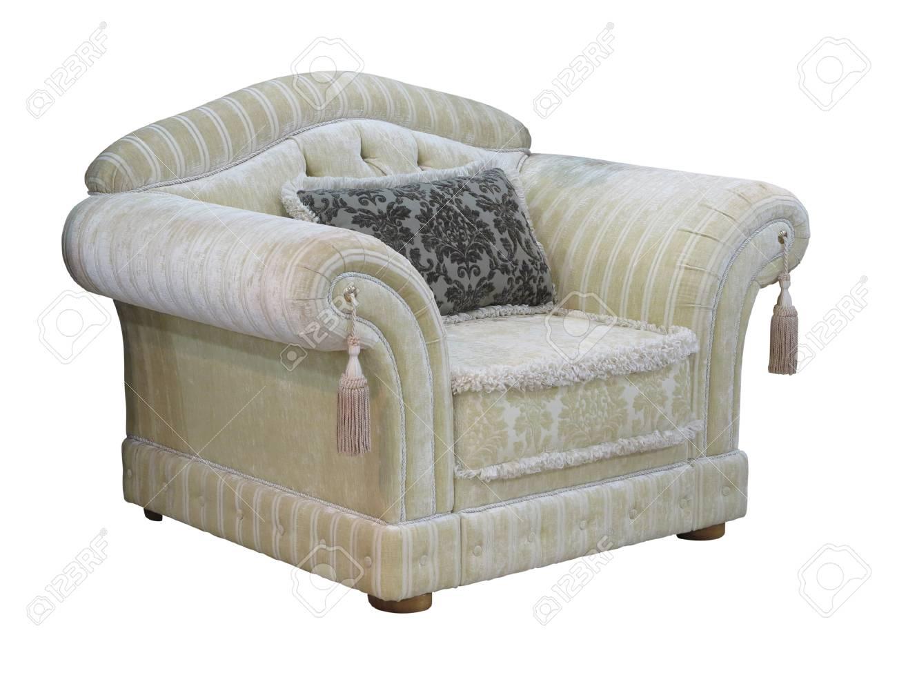Sedie Depoca : Retro sedia depoca di lusso classico isolato su sfondo bianco foto