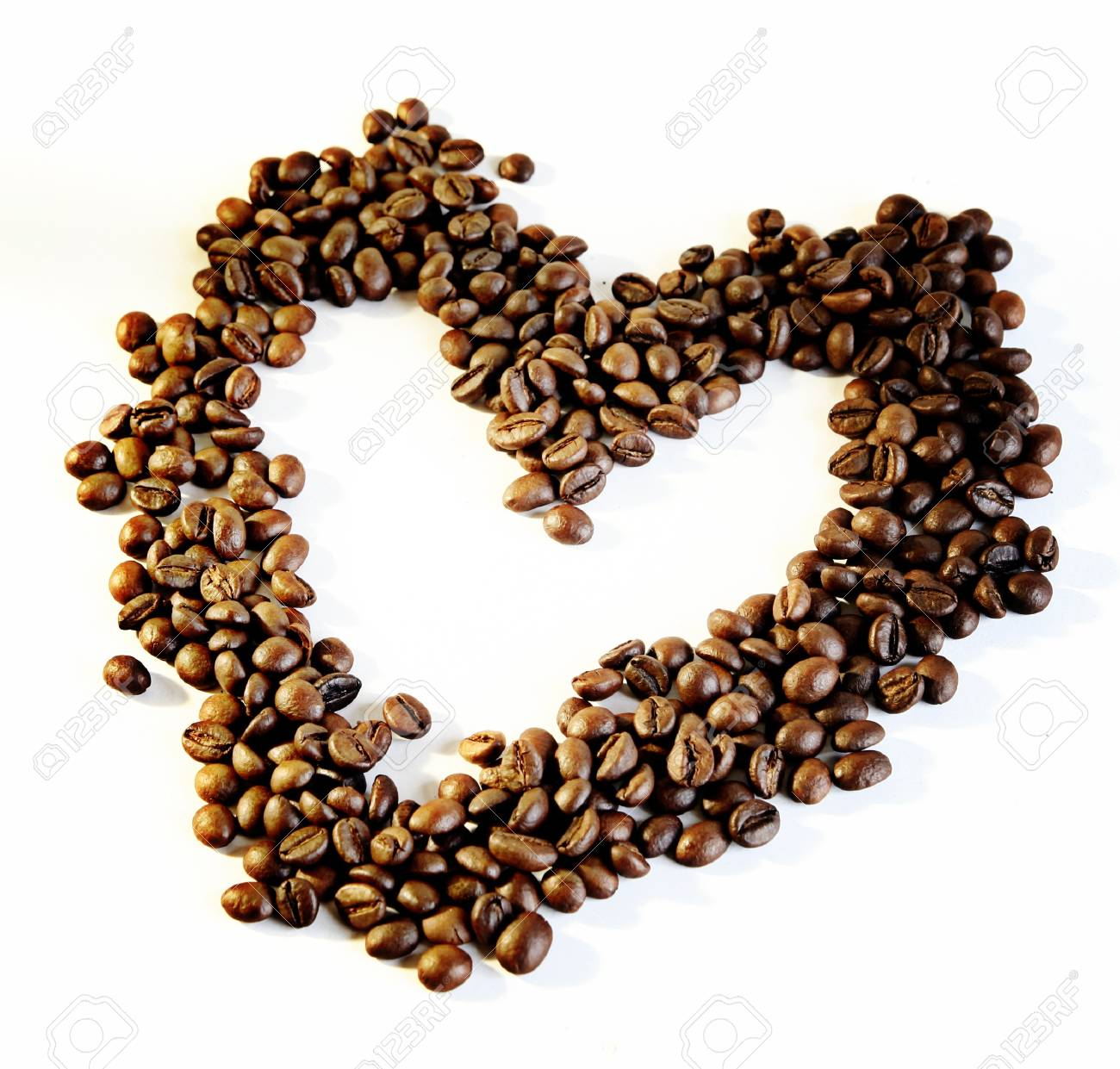 Heart made from coffee beans Stock Photo - 12901537