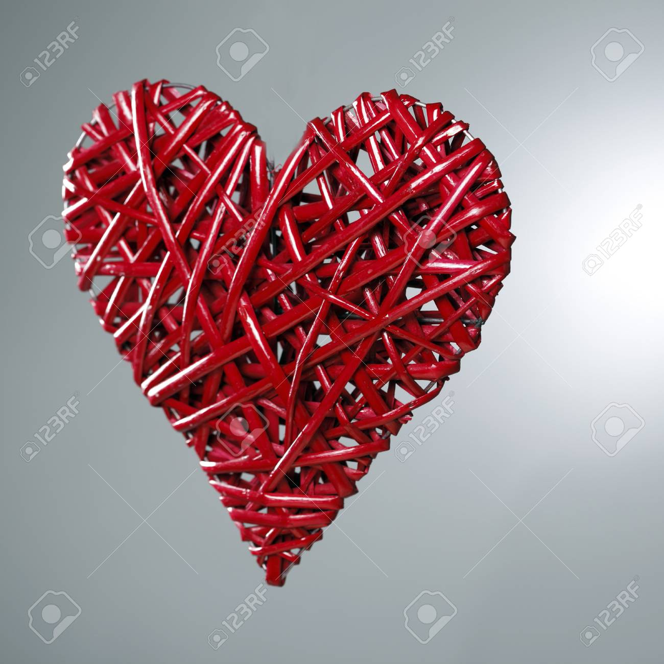 Hand Made Red Heart Symbol Of Love Stock Photo Picture And