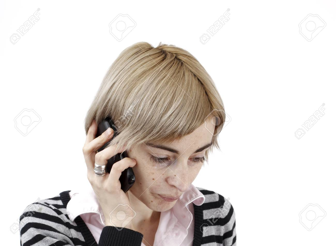 Close up photo of a woman talking on phone. Stock Photo - 18029532