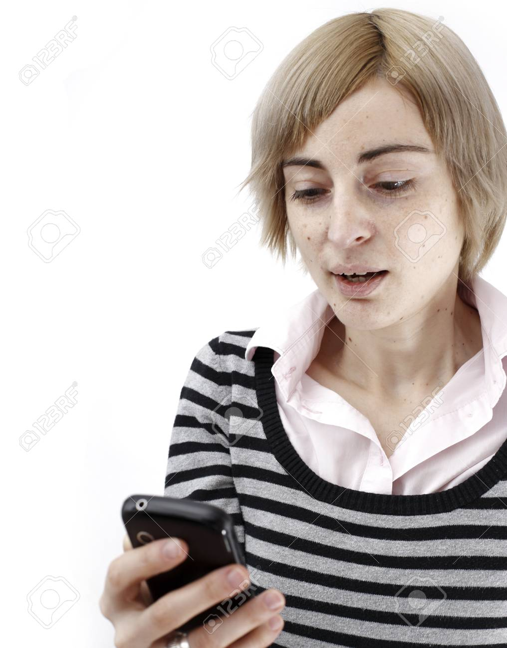 Close up photo of a woman talking on phone. Stock Photo - 18029533