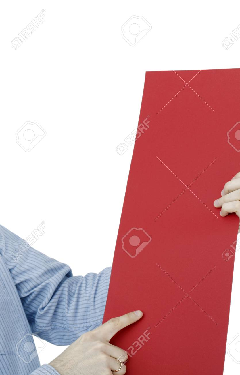 Human hand holding a piece of paper. Stock Photo - 22346910