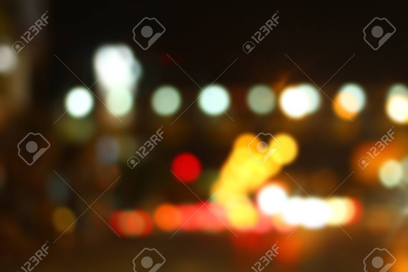 Blurred Bokeh Of Car In City At Night Stock Photo Picture And Royalty Free Image Image 41015180