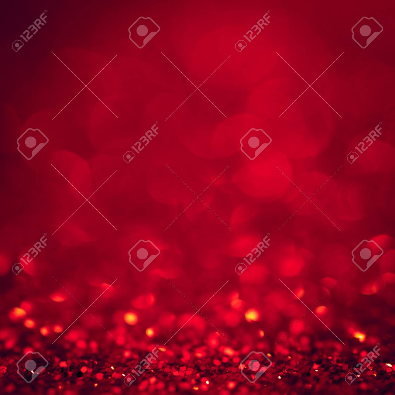Background Red Christmas Light Glitter Abstract Xmas With Bokeh
